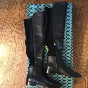 Tory Burch over the knee Wyatt boots